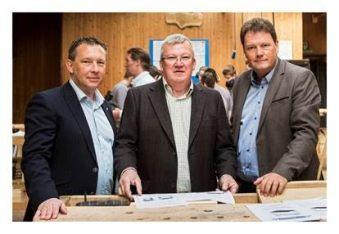 v.l.n.r. Chris Slaets, Guido Baens, Jean-Paul Peuskens Foto Robin Reynders